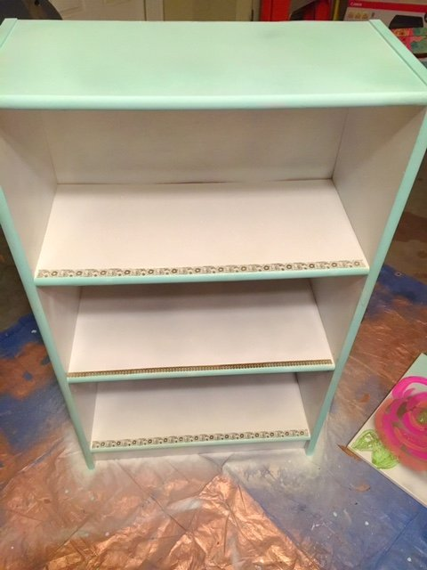 painted re-purposed bookcase