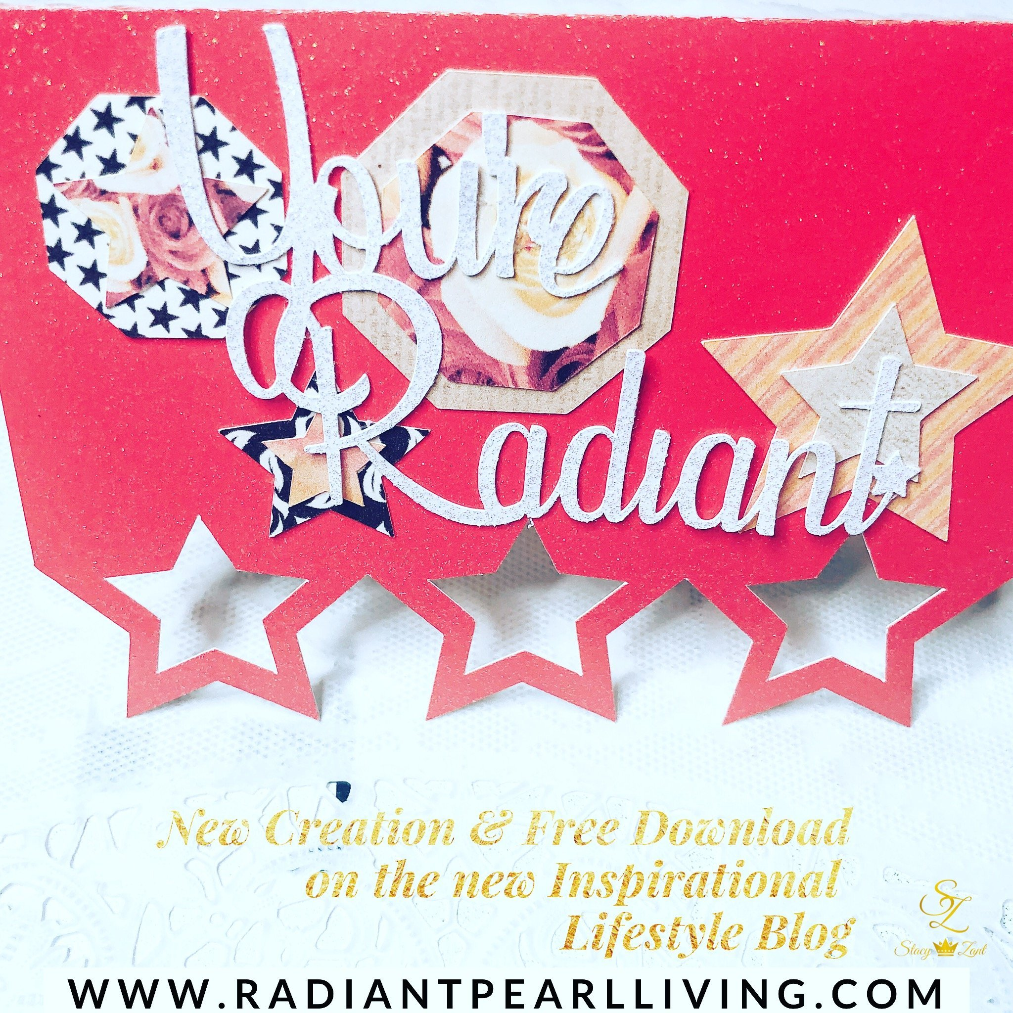 Radiant Star Valentine Card Free download and diy files to create for someone special.