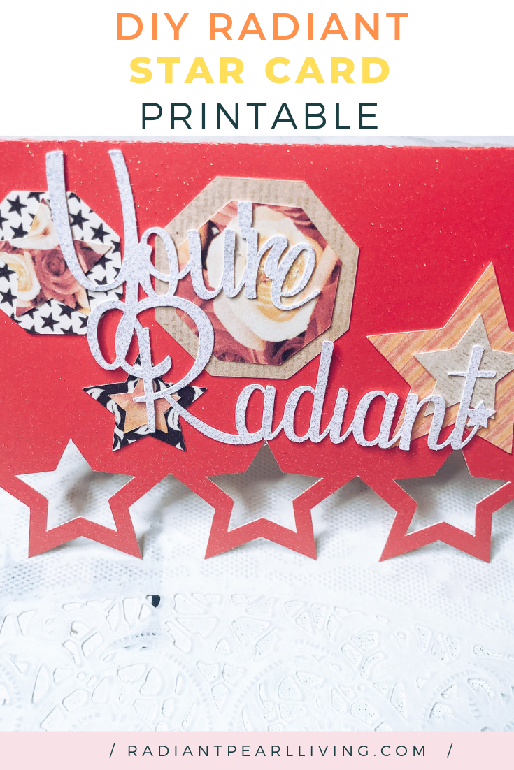 DIY Valentine Radiant Star Card Blog printable
