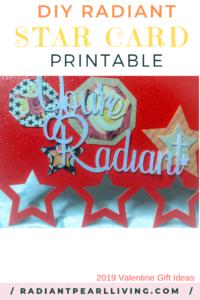 DIY Radiant Star Card Printable pinterest in for Valentine's Day
