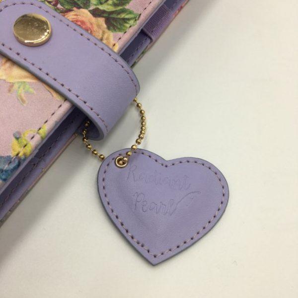 Radiant Pearl Purple Rose Planner Heart Tag