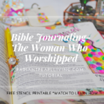 Facebook Bible Journaling Tutorial Post