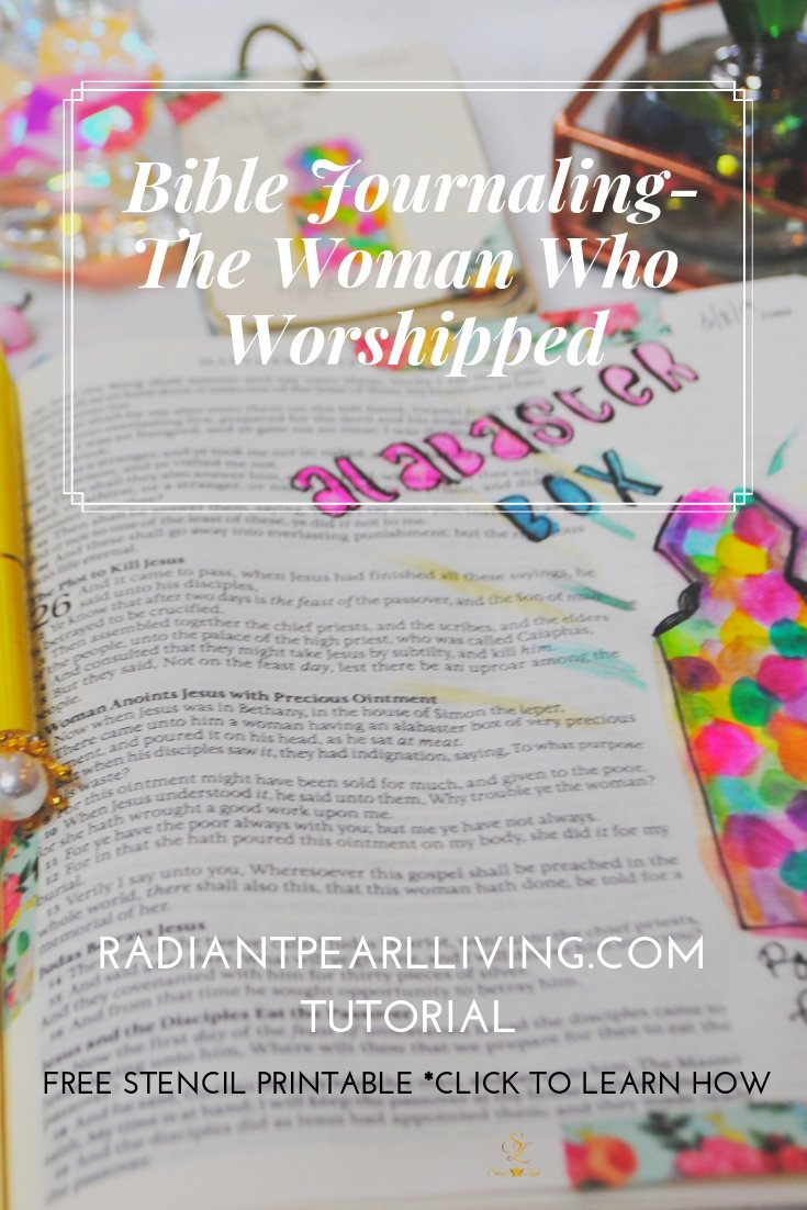 Pinterest Bible Journaling women who Worship pin