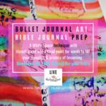 IG Bullet Journal Prep for FB Monday More inspo Bible Journal LIVE
