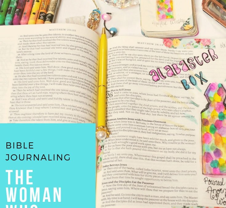 Main Pinterest Post for Alabastar Box Bible Journaling Tutorial