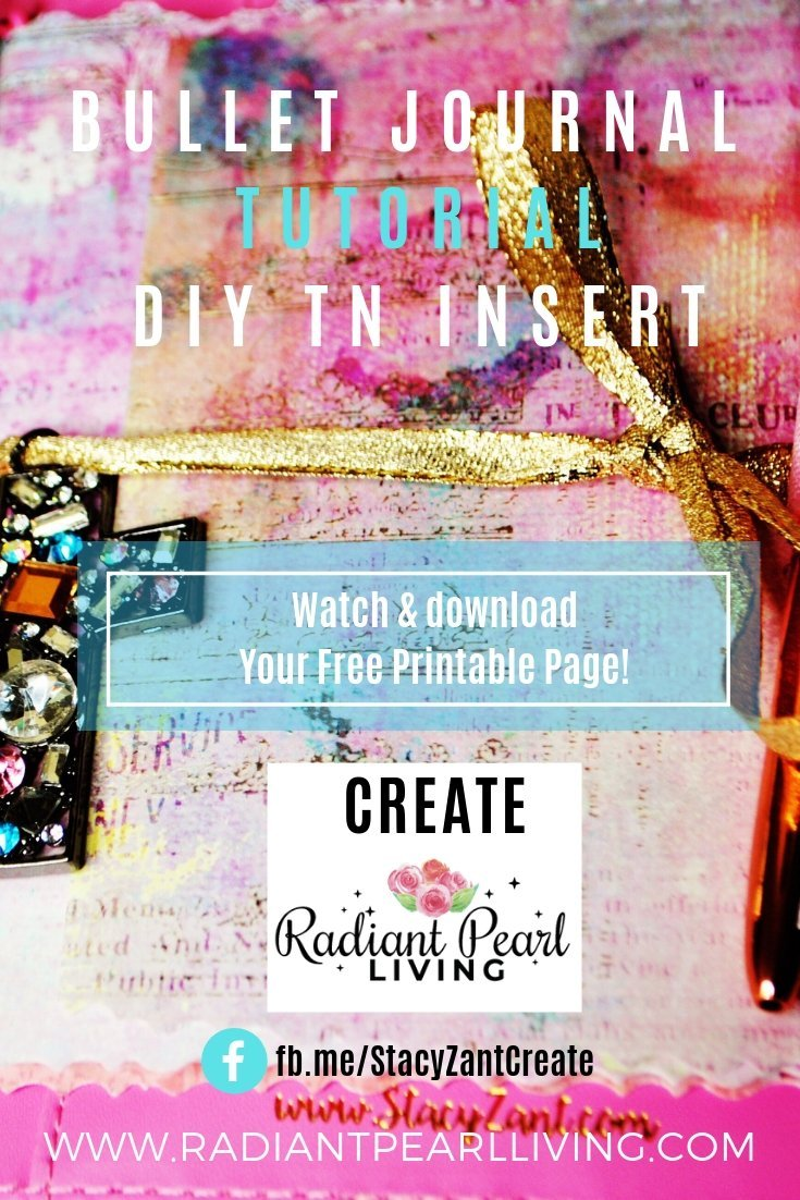 Bullet Journal Tutorial DIY TN Insert Printable for Pinterest 1