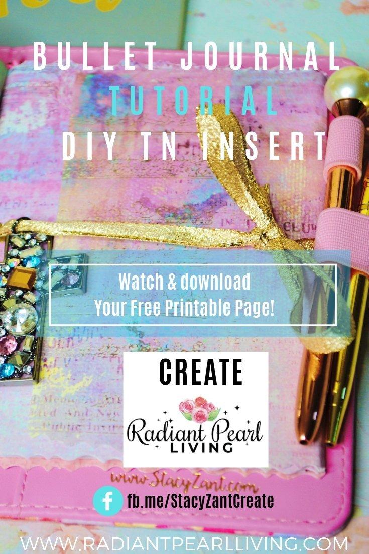Bullet Journal Tutorial DIY TN Insert Printable for Pinterest 2