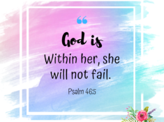 God is within her cover live out your faith