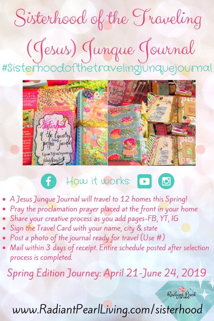 Sisterhood Junque Journal Pin April 21-June 24