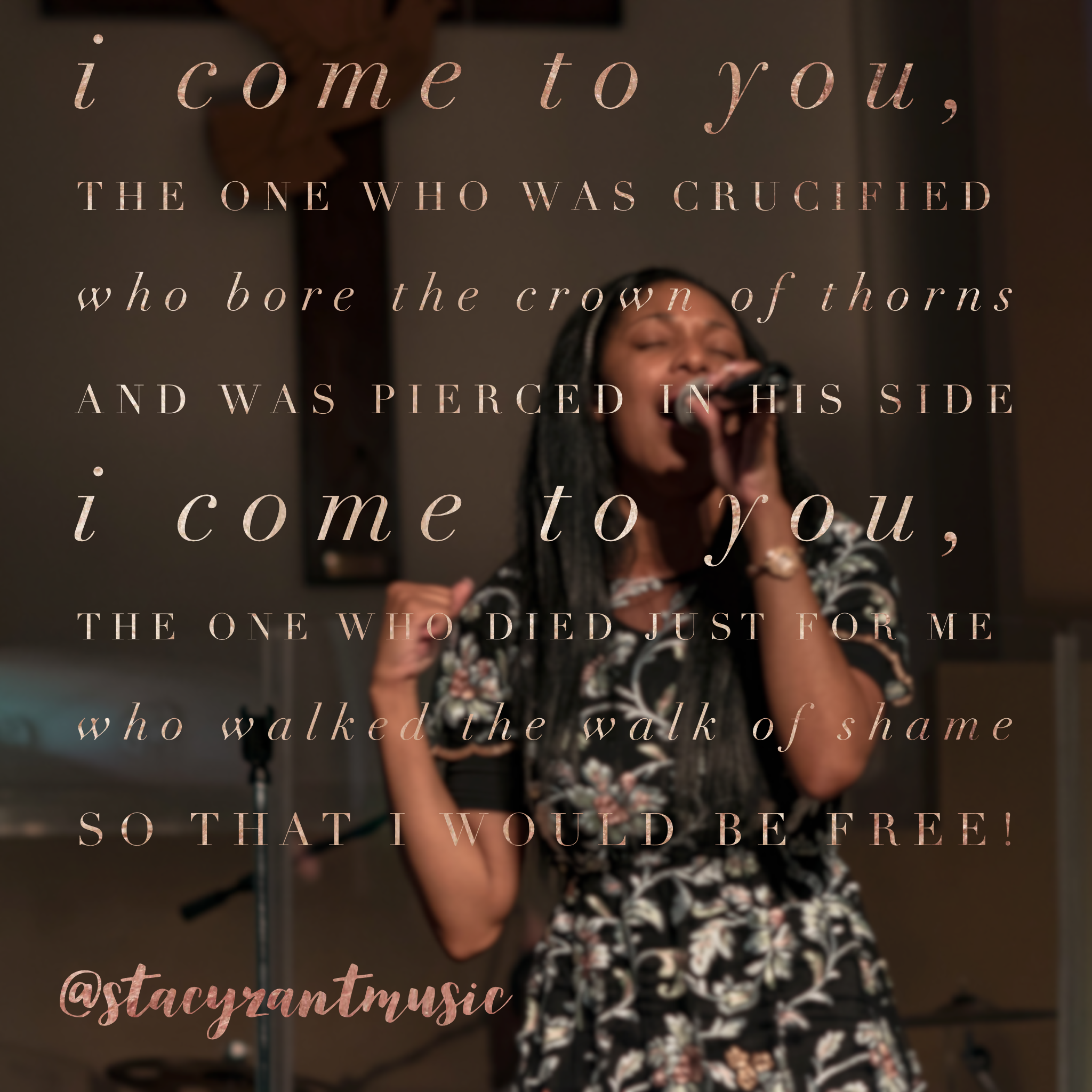 Stacy Zant Singing Live Again Quote
