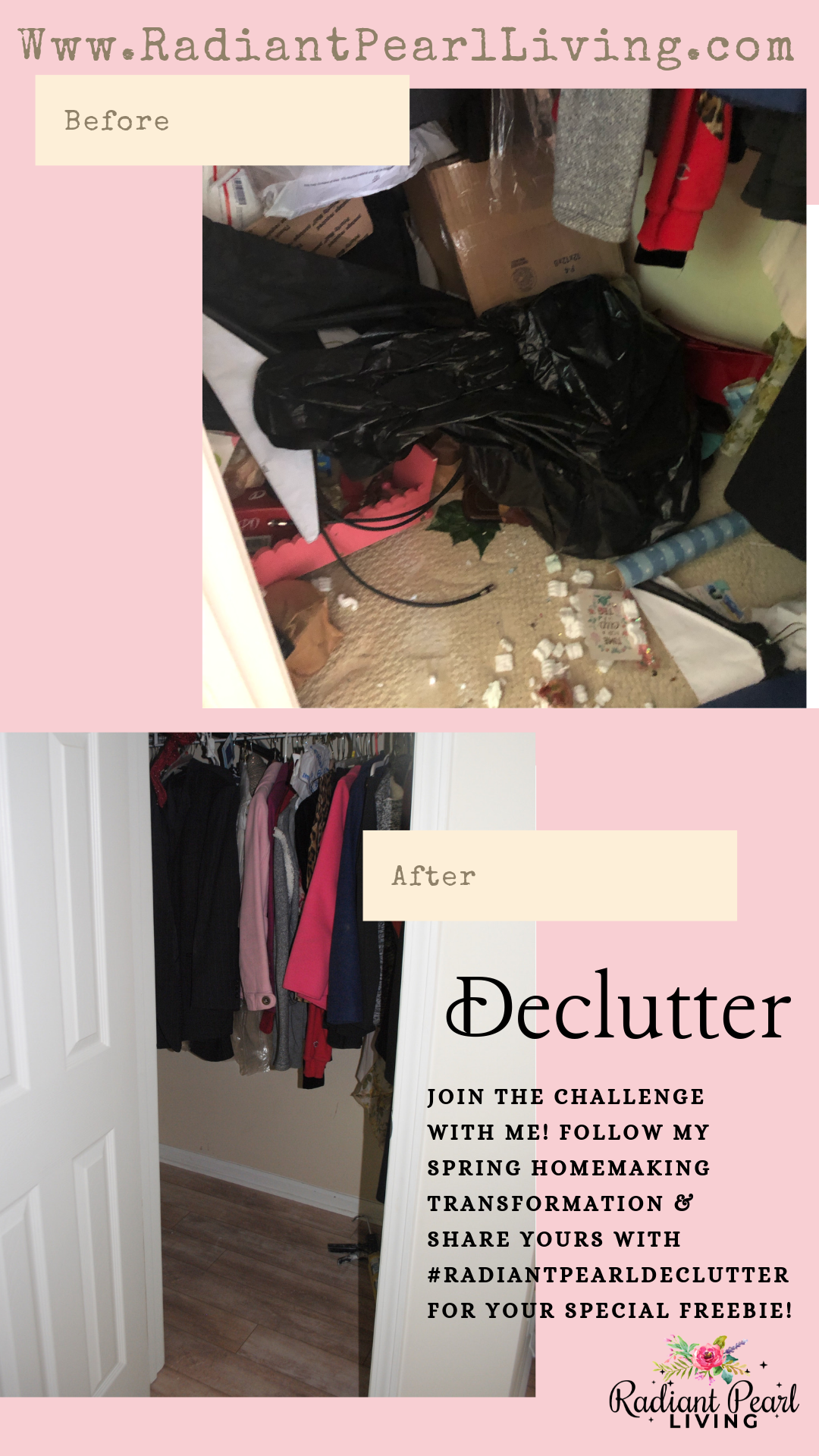Declutter your scariest space challenge before and after photo improved