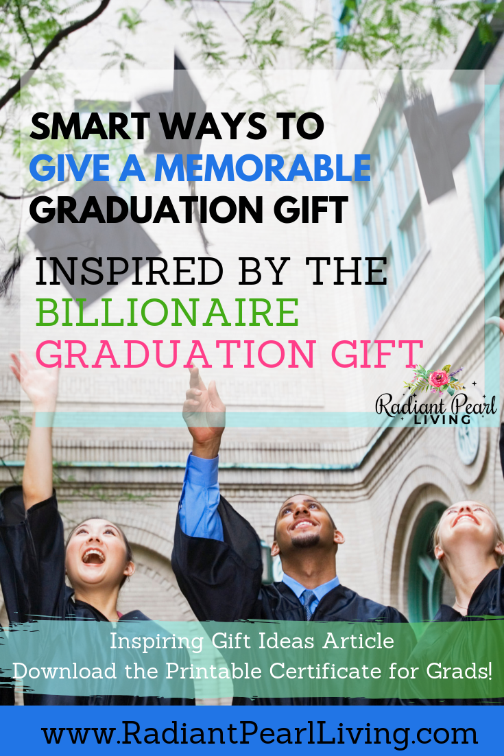 Guy and Girl Grad Gifts with Graduation Caps Thrown in the air