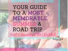 Looking for The Essential List to have the most memorable summer with your loved ones? It is officially Summer and it already seems to be flying by, isn't it? We have a lot of fun things planned for us to do this summer! Including one big road trip at the end of next month. I can't wait to go on the road with my family and enjoy all the must have essentials that we need to have with us while we enjoy some quality time together.