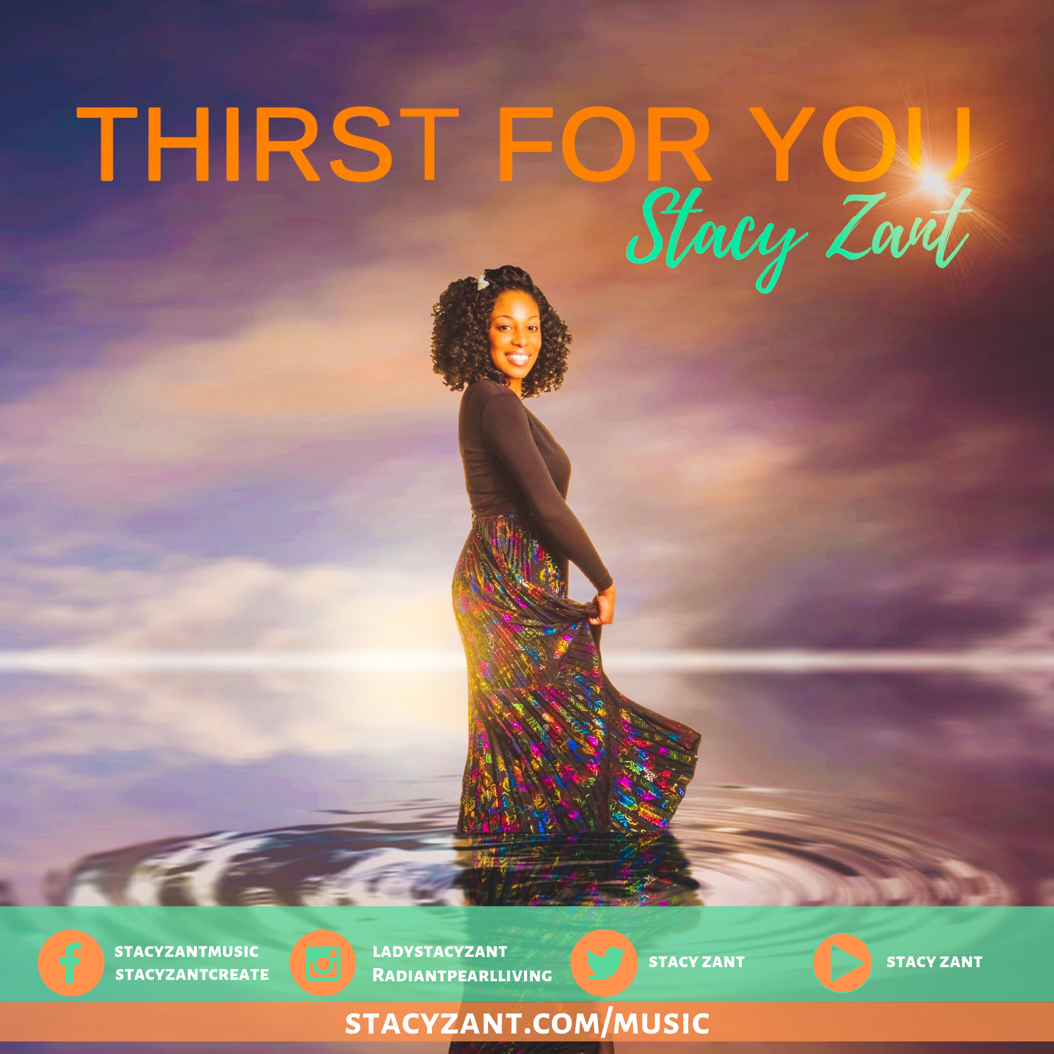 Stacy Zant Thirst for You Orange and Green 2019 Promo Cover