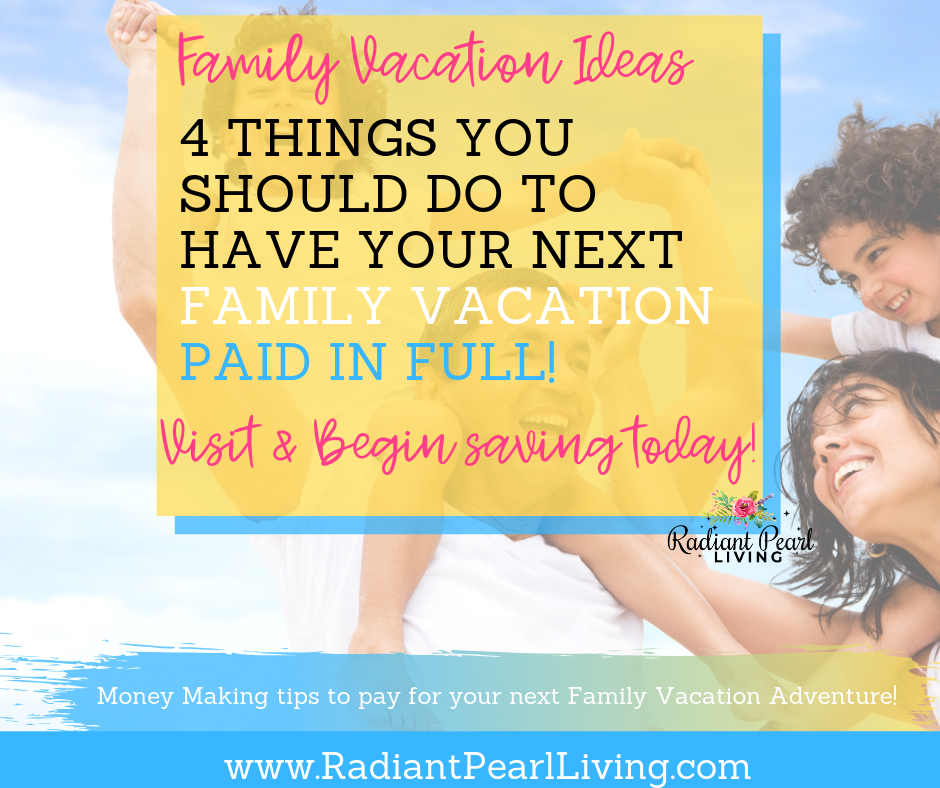 You have the vision for a memorable family vacation? These are sure effective ways you can consider paying for your family vacation as you begin to plan your next Disney Trip or weekend adventure with your family.