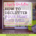 6 Tips to Declutter FB post Visit to download the checklist and print. pin to save
