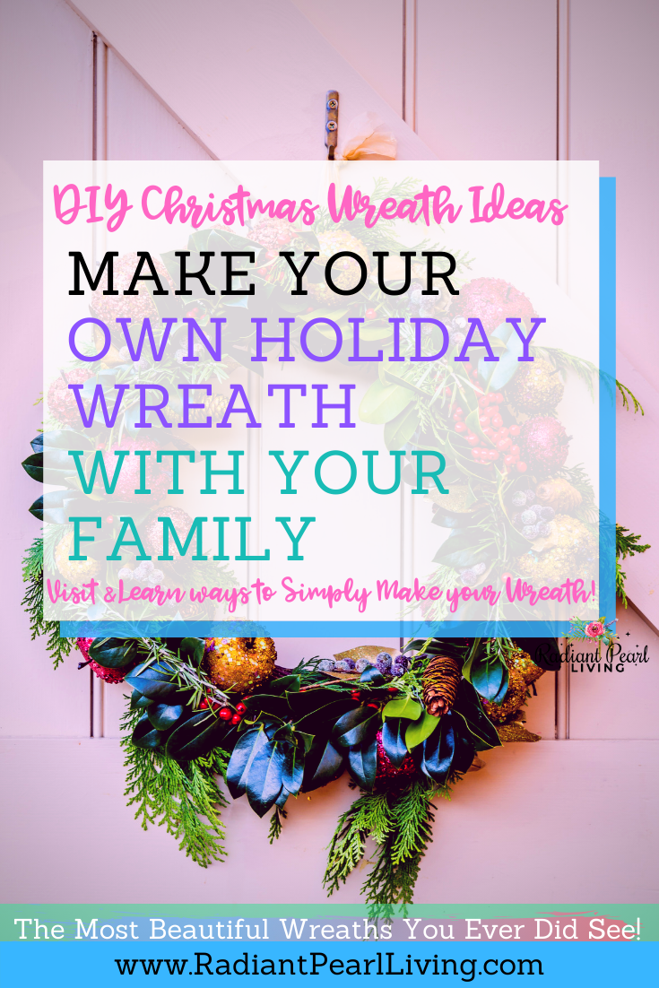 DIY Christmas Wreath Creation with family