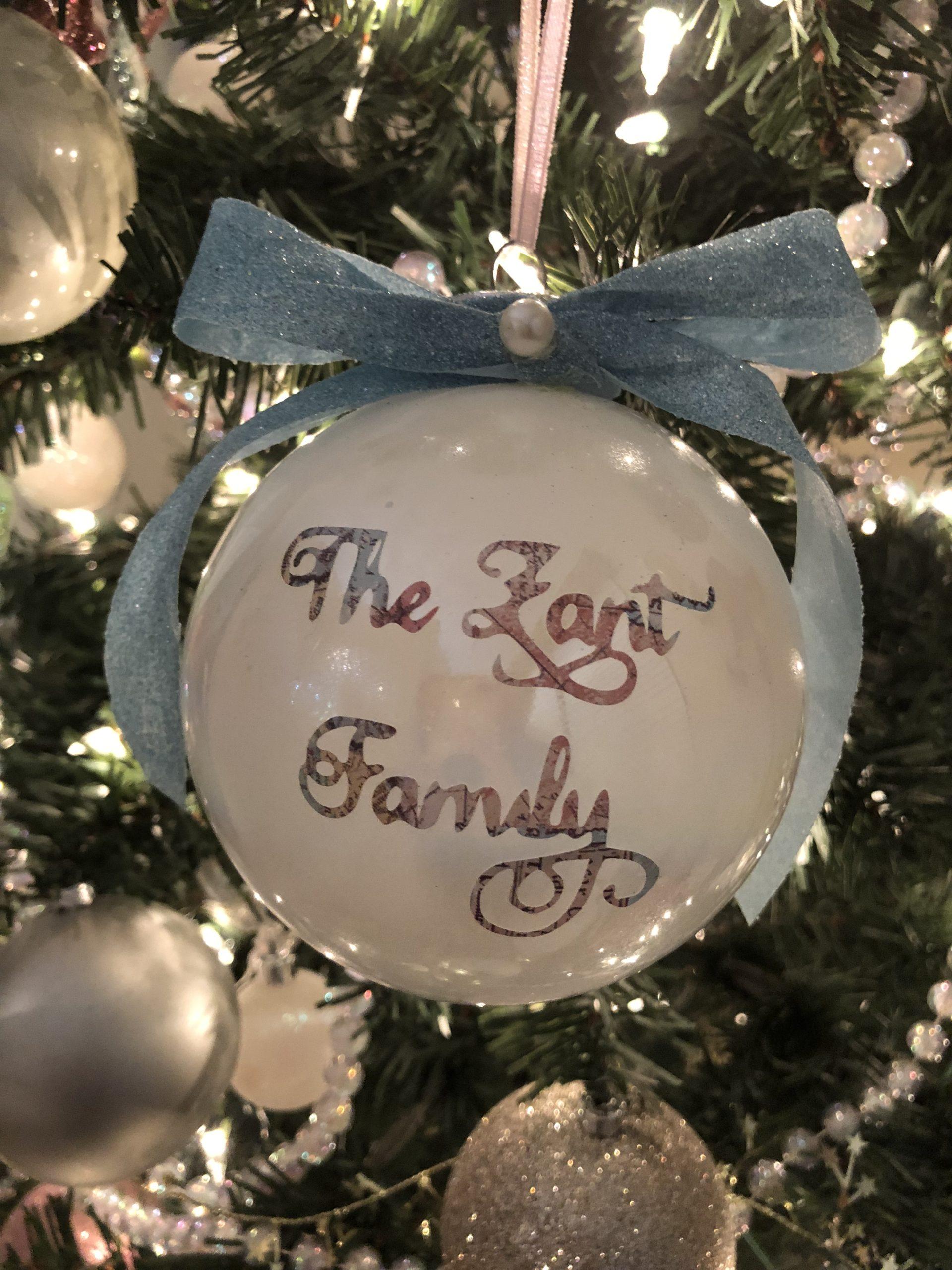 Zant Family Ornament