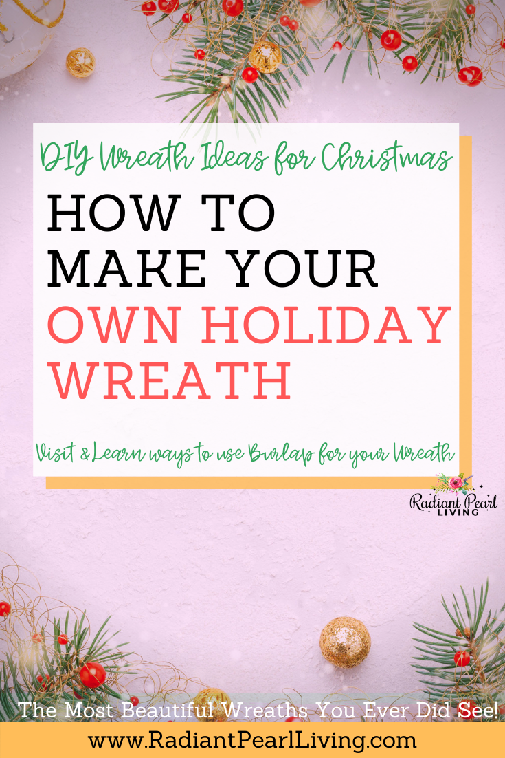 DIY Wreath Ideas for Christmas Pin