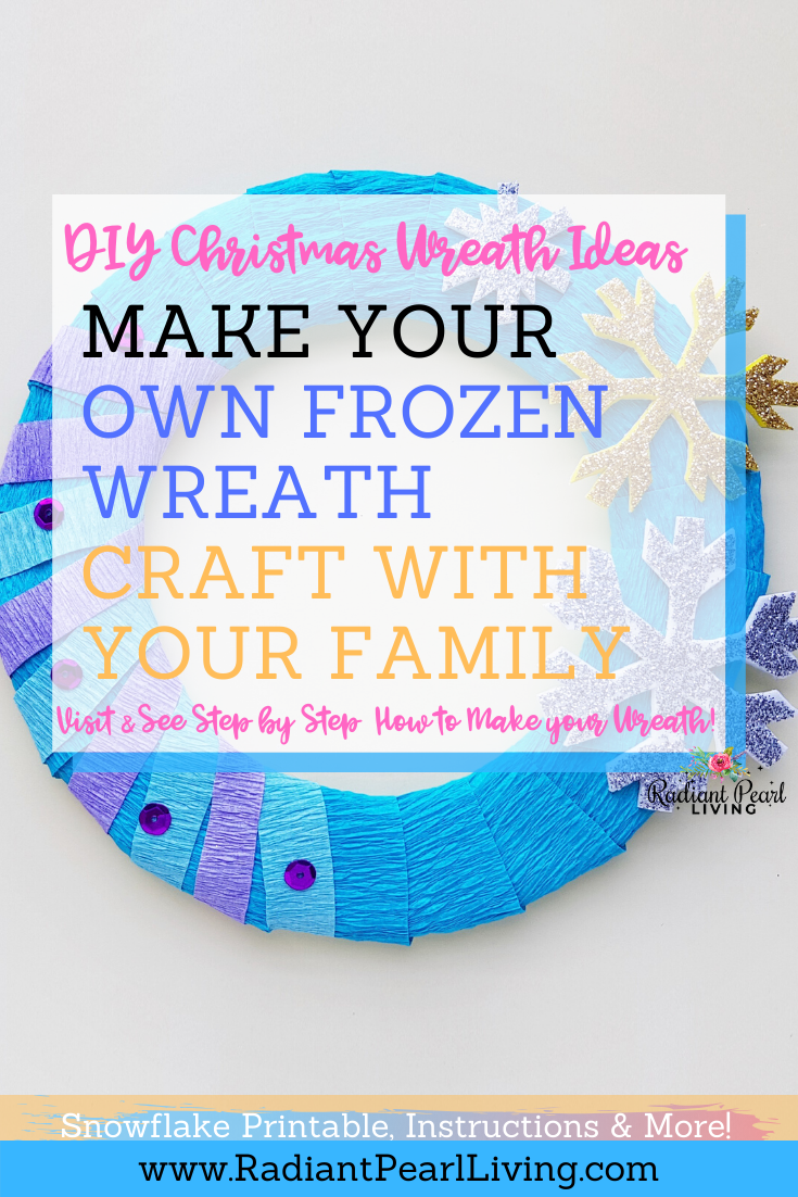 DIY Frozen Christmas Wreath Pin with Printables and Step by Step Instructions