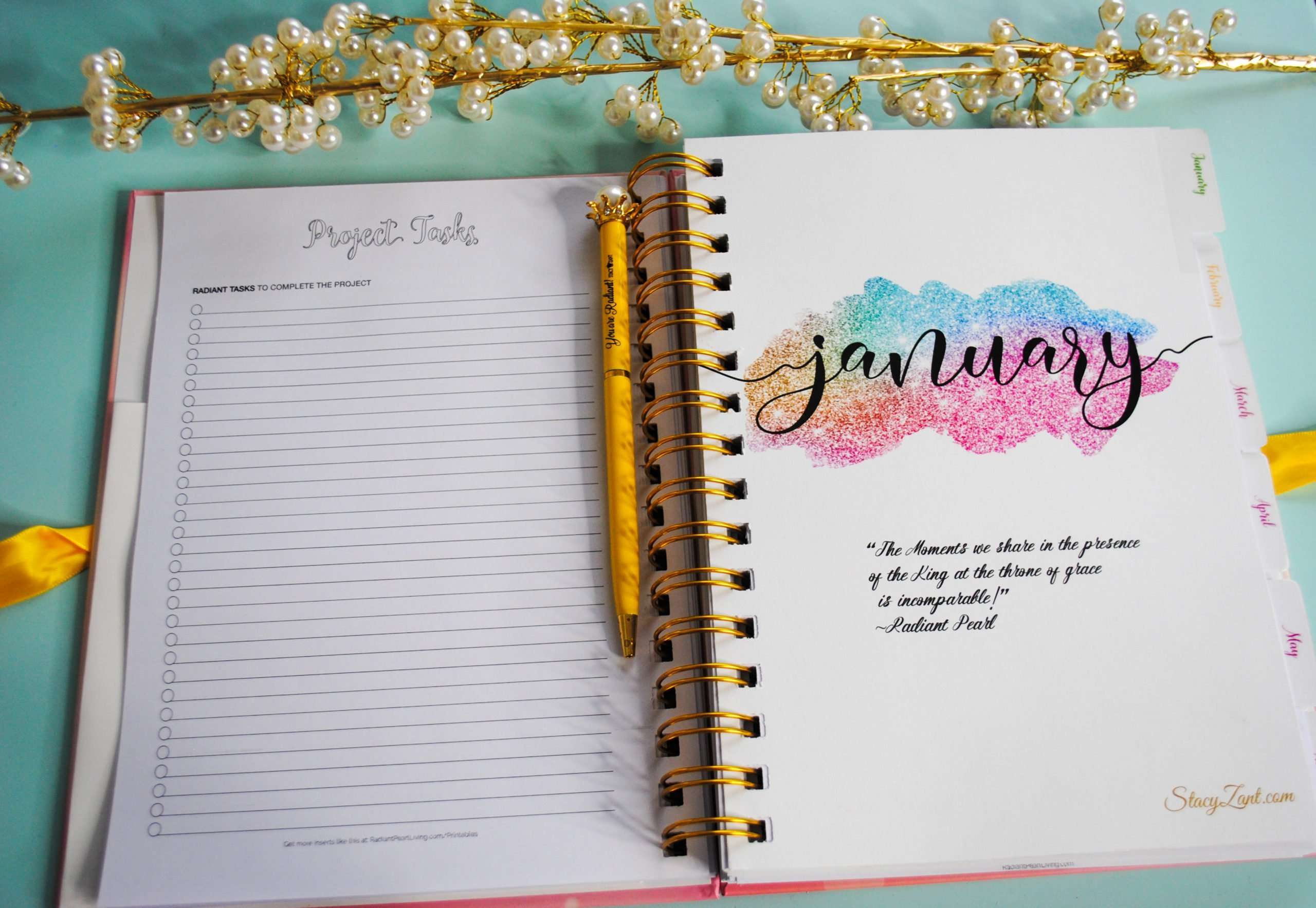 January Inside Month View