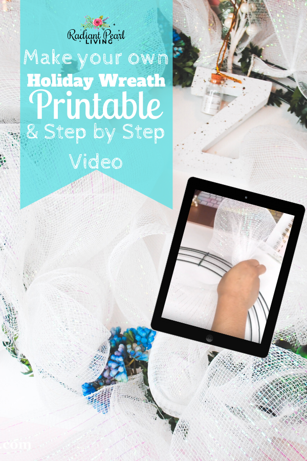 DIY Christmas Wreath Tutorial and Ideas with Video and Printable Visual