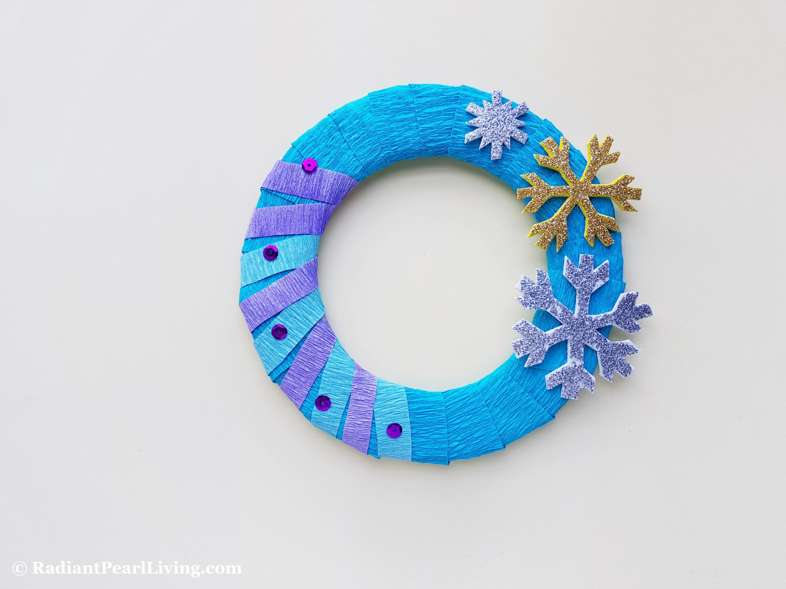 Step 6 Frozen Wreath Craft