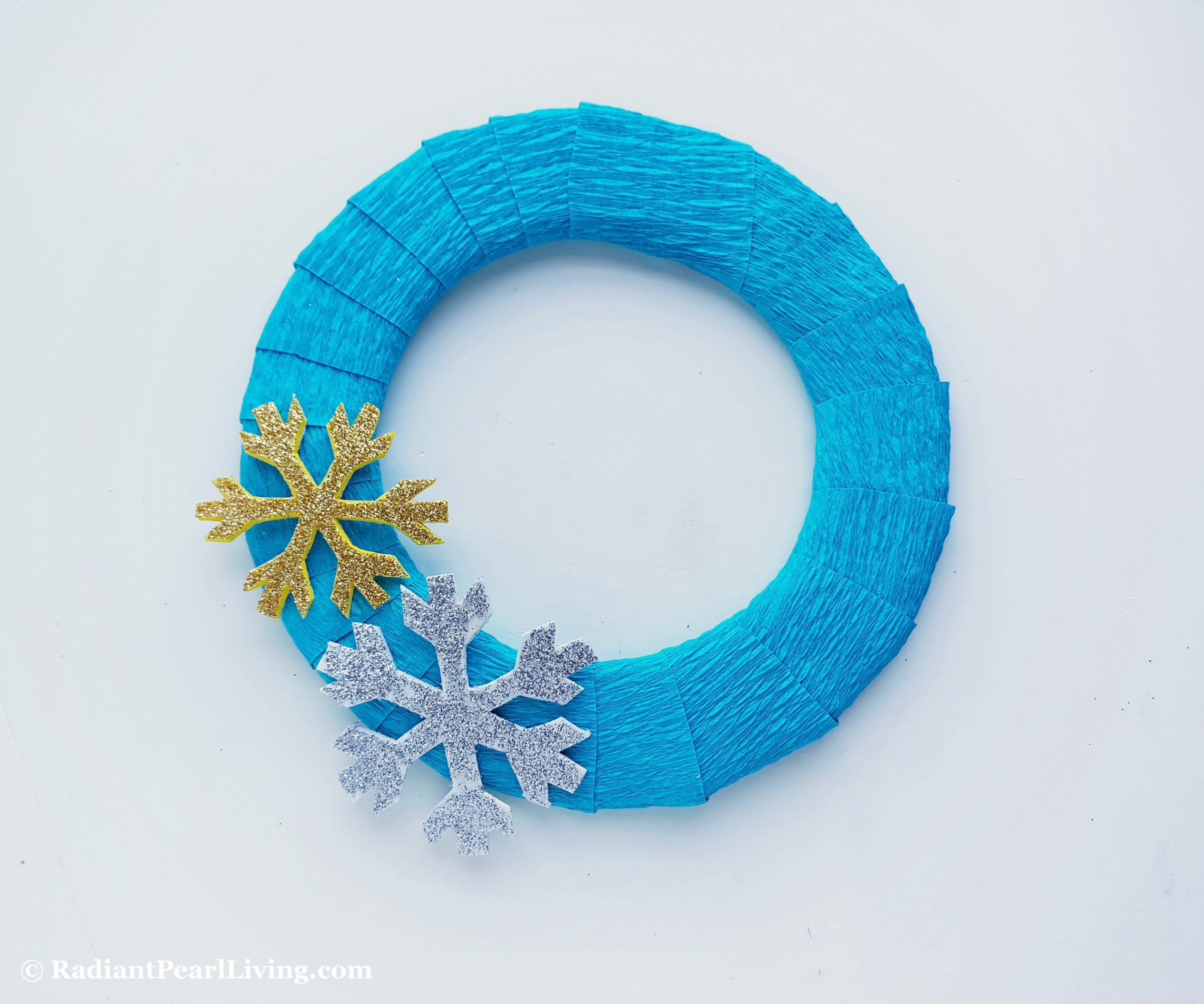 Step 5 Frozen Wreath Craft