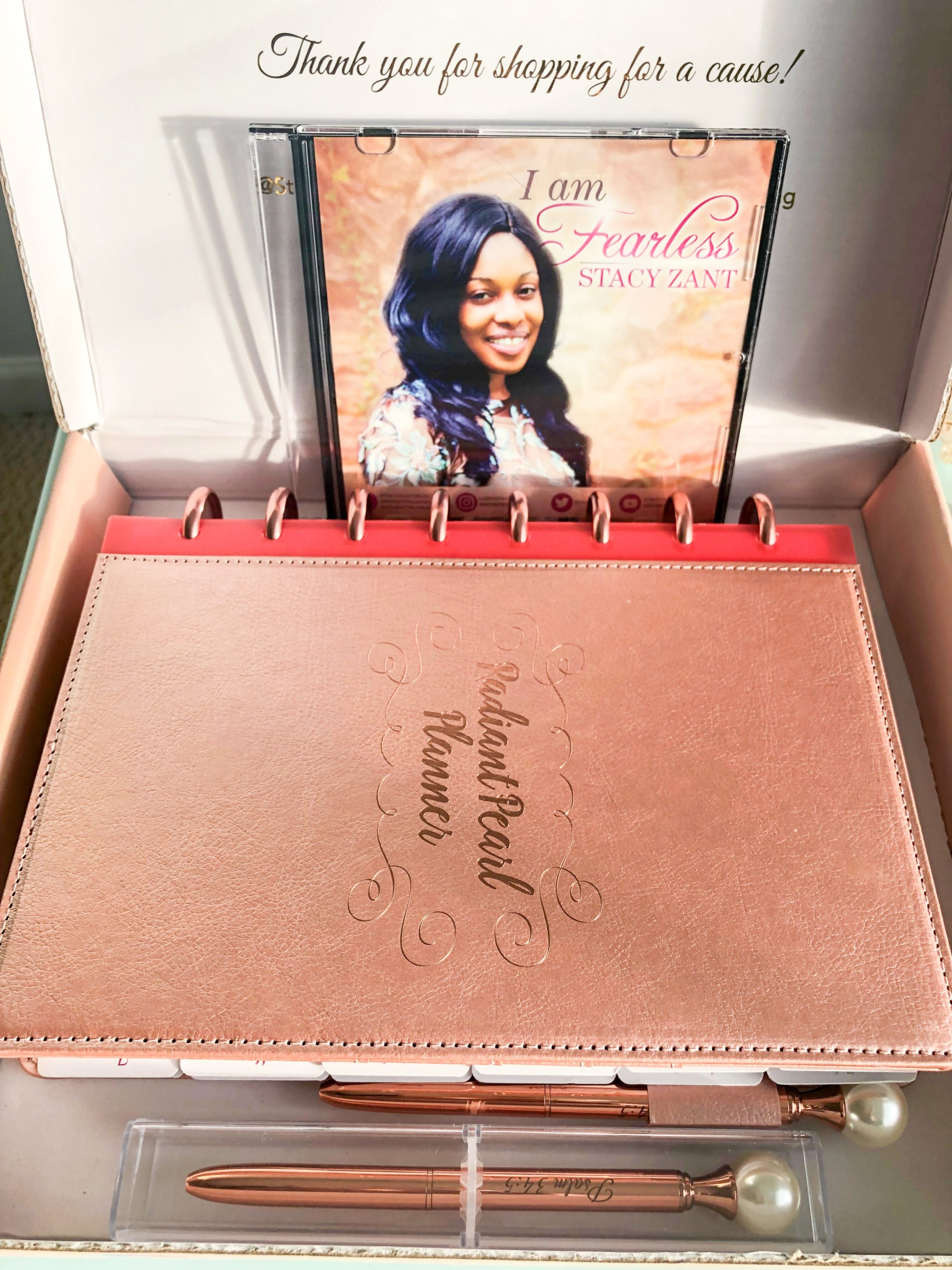 Radiant Pearl Planner Disc-bound planner package 1