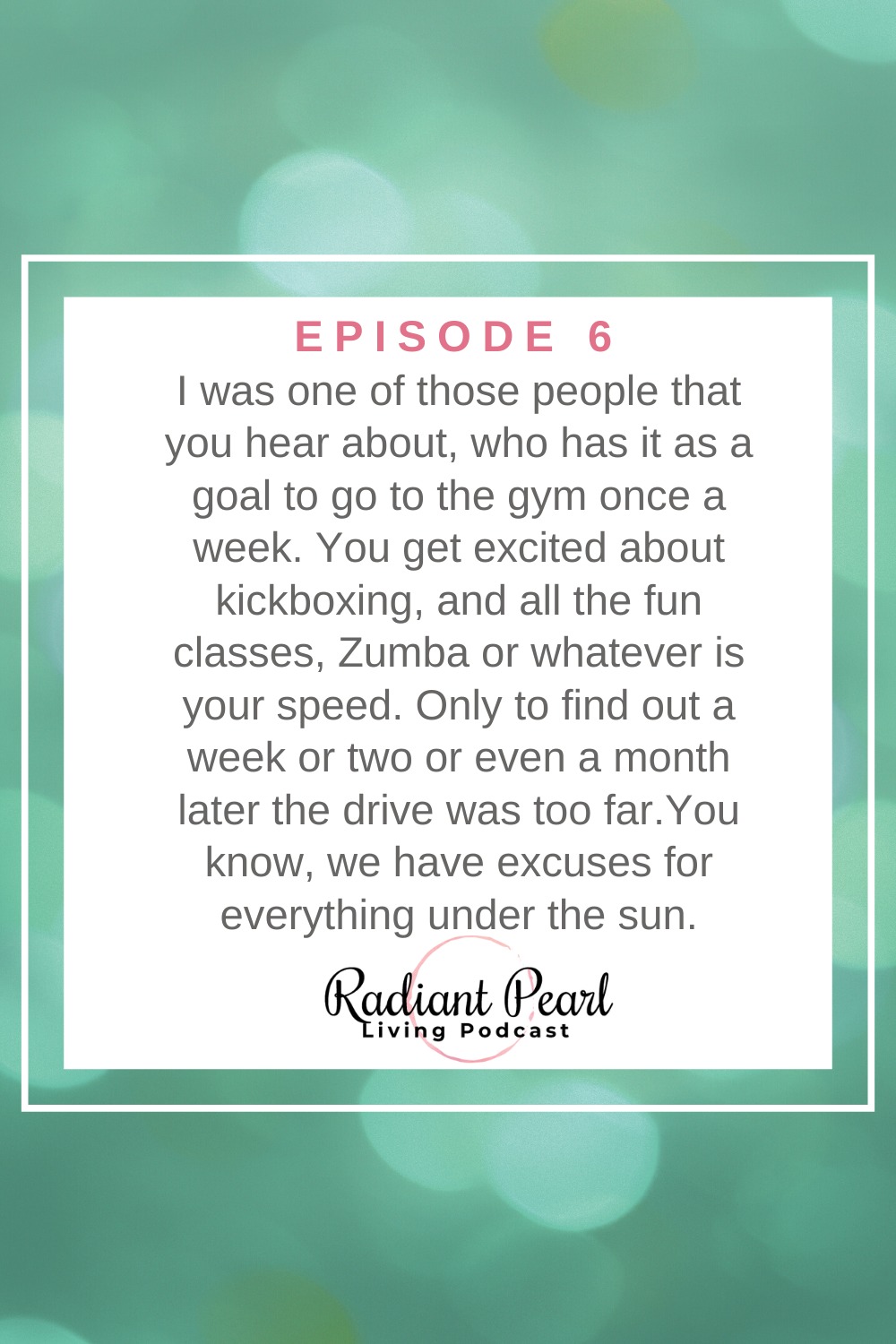 Stick to a great plan to improve your health with a gym routine and essential oils. Radiant Pearl Living-RPL Live with Stacy Zant Episode 6 Features End of the Month Thoughts, Scripture reading on How to Find Perfect Peace and Goals for Great Health.