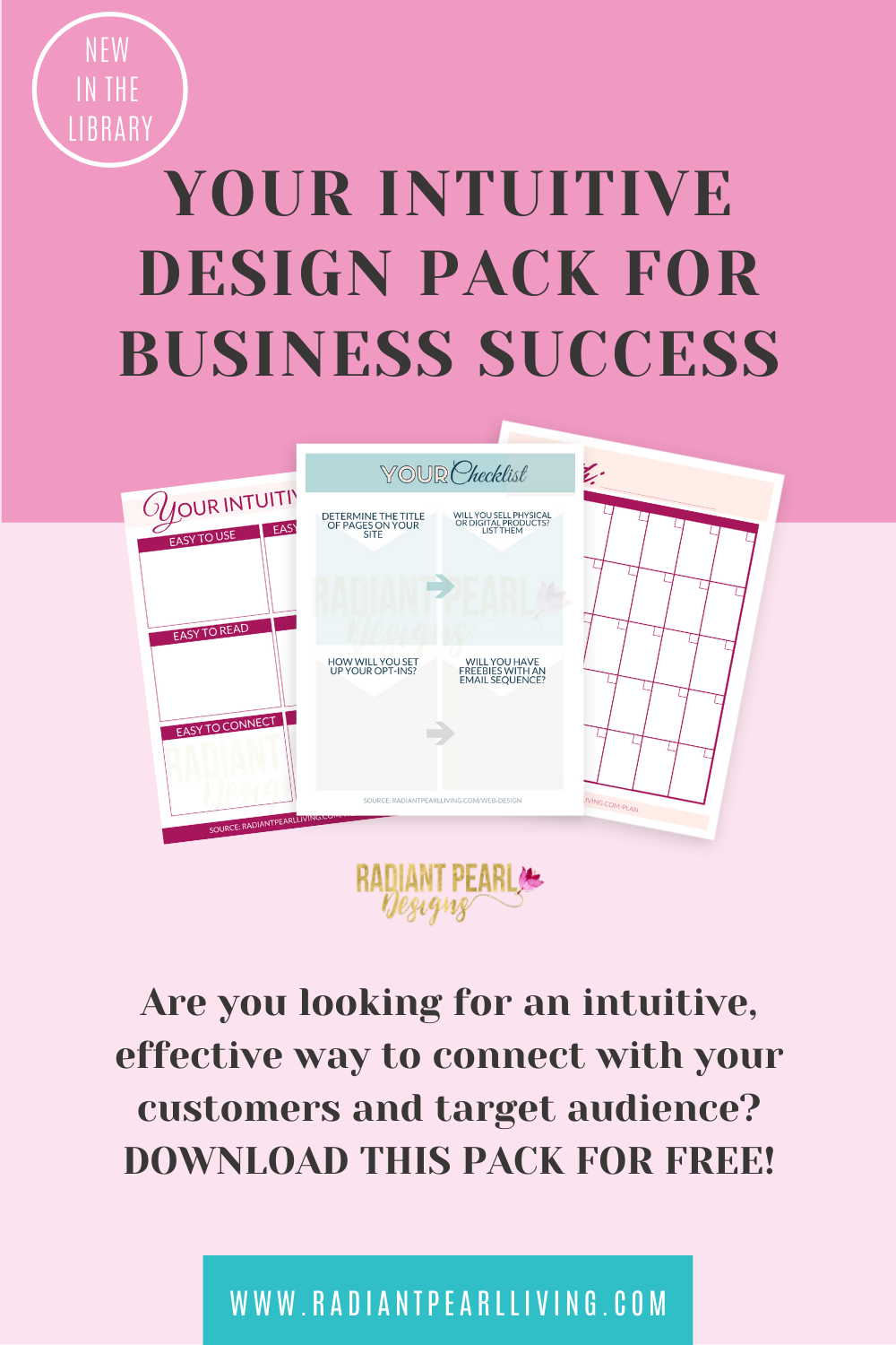 Radiant Pearl Designs intuitive Design for Business Success Pack Pin