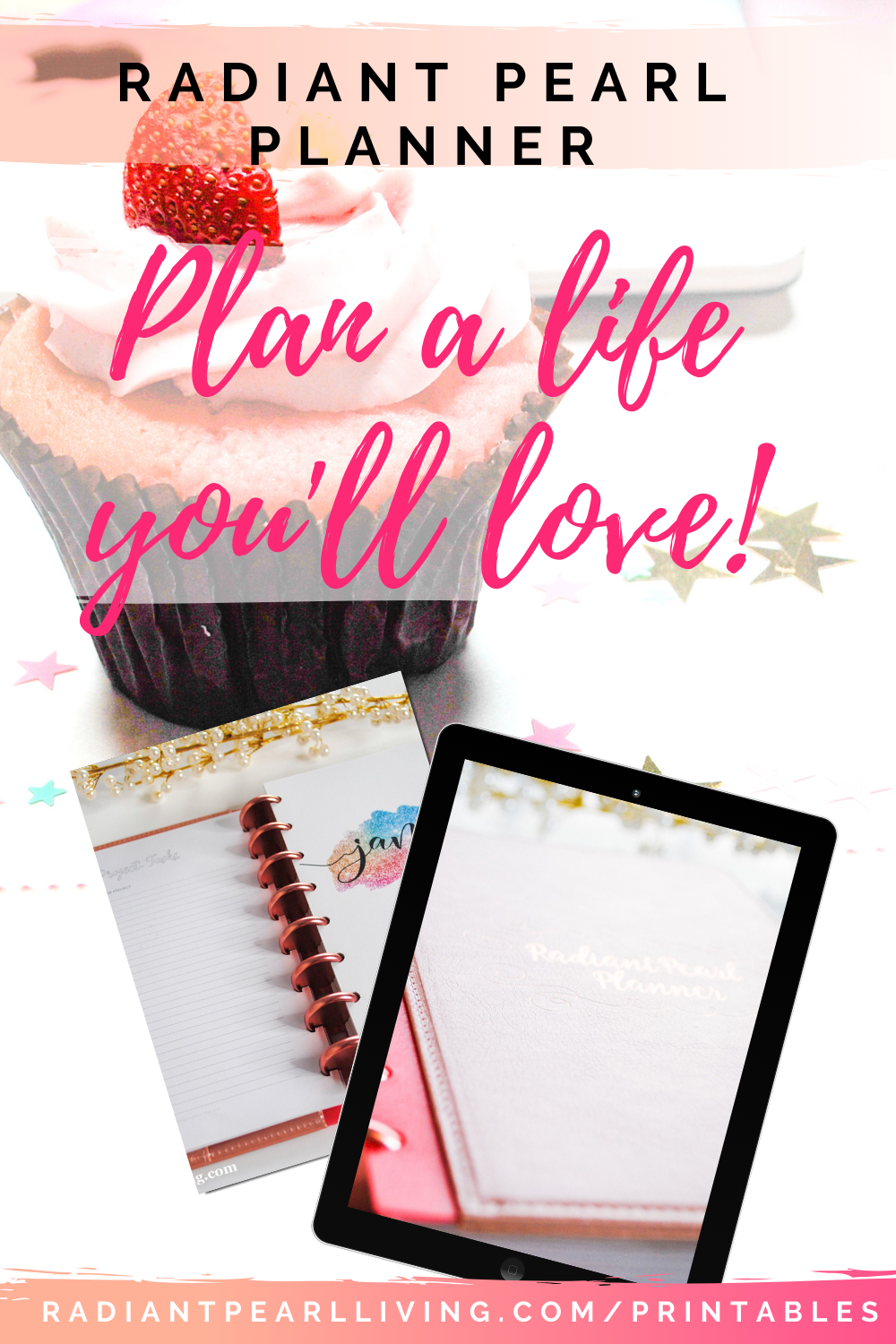 Plan a Life You Love Printable Download for your Discbound planner, A5, A6 and more!