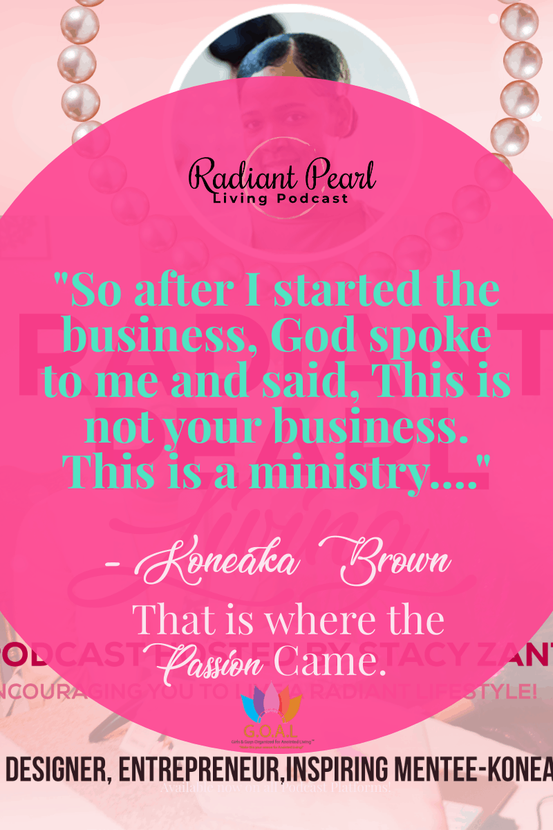 Need Encouragement right now as you are stuck at home? This Episode will explore the Importance of listening for God's still voice when you don't think you are qualified to do a certain thing. The doors that will open when you take that leap of faith, listen and do the work that is necessary to fulfill the call. Be inspired as you hear Koneaka Brown share her story as a Fashion Designer, Entrepreneur and mentee now mentoring others.