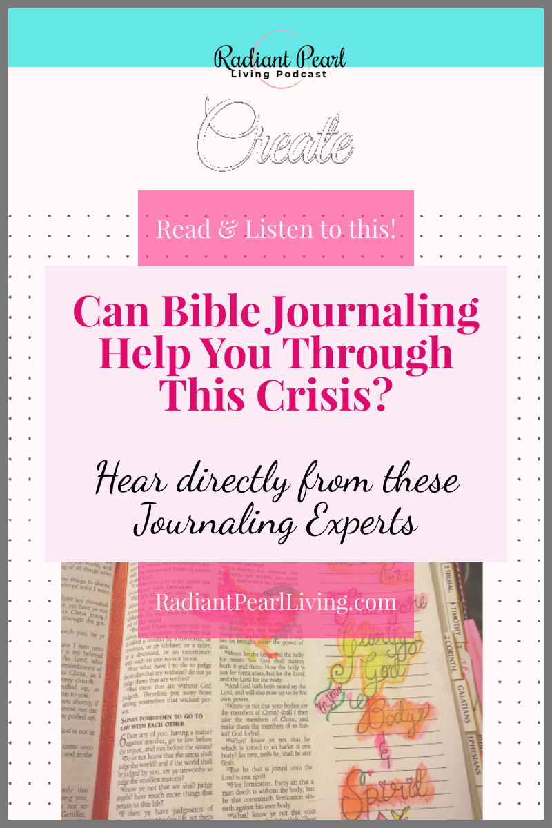 Learn from seven featured Bible Journaling Group experts on how you can journal and fight your fears during a crisis like the one we are experiencing today. These featured tips will come directly from the mouths of  leaders who will encourage you to explore the ways you can overcome anxiety, stress and concern with a few simple steps. You can also download the tips you can use to keep handy as you utilize what has been shared in this Episode.