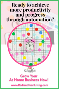 Ready to achieve more productivity and progress not perfection through automation? Grow your at-home business and see tips & tools to achieve the things you always hoped you would as a blogger, influencer and entrepreneur.