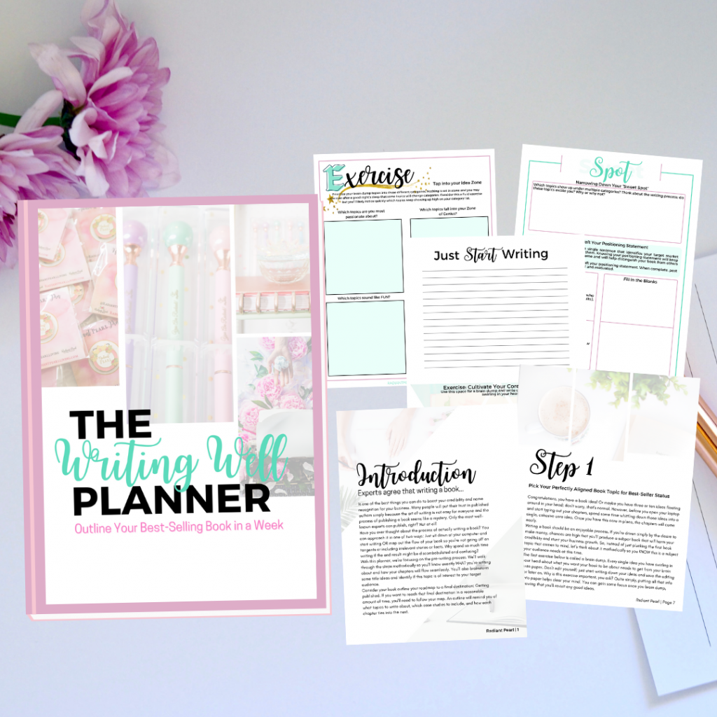 The Writing Well Planner MockUp
